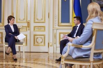 Интервью Владимира Зеленского украинским телеканалам