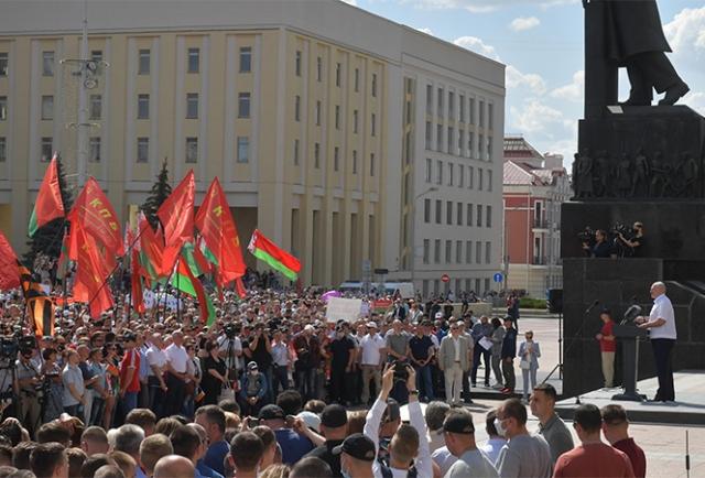 Александр Лукашенко на митинге. Минск. 16 августа 2020