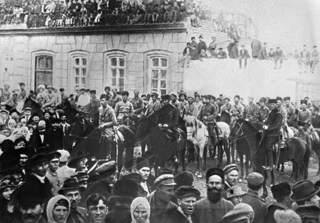 Вступление частей Красной Армии в Баку. 1920