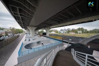 Под мостом Бетанкура в Петербурге может появиться скейт-парк (эскиз)