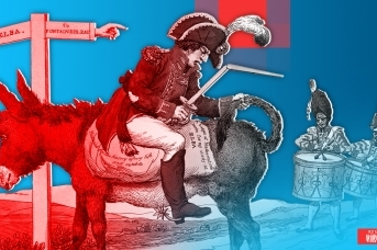 Наполеон едет задом наперед
