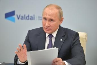 Владимир Путин в ходе пленарной сессии международного дискуссионного клуба «Валдай»