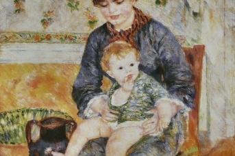 Пьер Огюст Ренуар. Мать с ребёнком (фрагмент). 1881