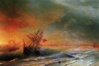 Иван Айвазовский. Буря под Евпаторией. 1861