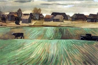 Александр Дейнека. Деревня. 1934