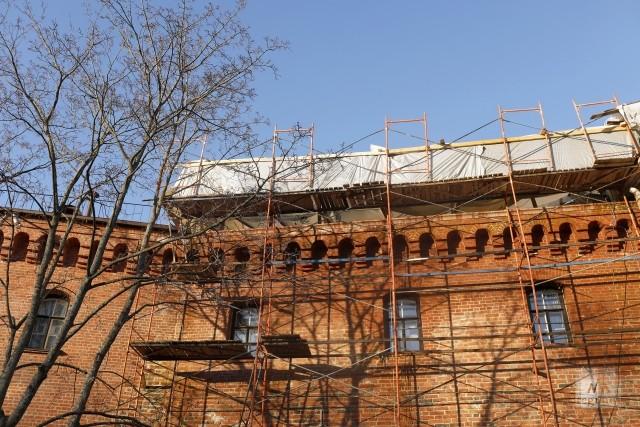 Реставрируемая часть Выборгского замка