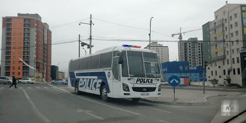 Полиция в столице Монголии