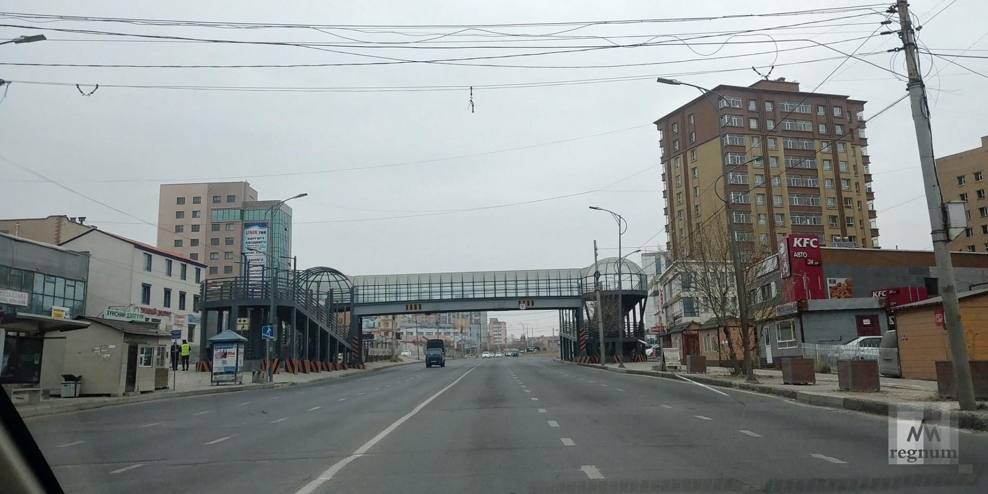 Пустая улица Улан-Батора