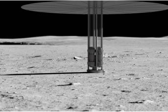 Иллюстрация концепта энергосистемы, использующей энергию ядерного деления на Луне. NASA