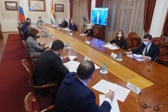 Заседания Рабочей группы по сотрудничеству Калужской области и Белоруссии в режиме видеоконференцсвязи