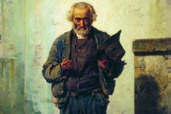 Федор Бронников. Старик-нищий (фрагмент). 1869