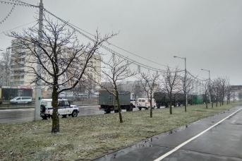 Автотранспорт с белорусскими силовиками