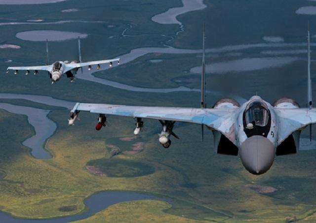 Самолеты Су-35С ВВС России