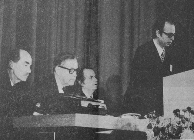 Профессор Клаус Шваб открывает первый Европейский форум менеджмента в Давосе в 1971 году