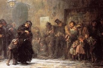 Люк Филдес. Голодные и бездомные. 1874