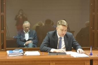 Осужденный Олег Соколов и адвокат Сергей Лукьянов