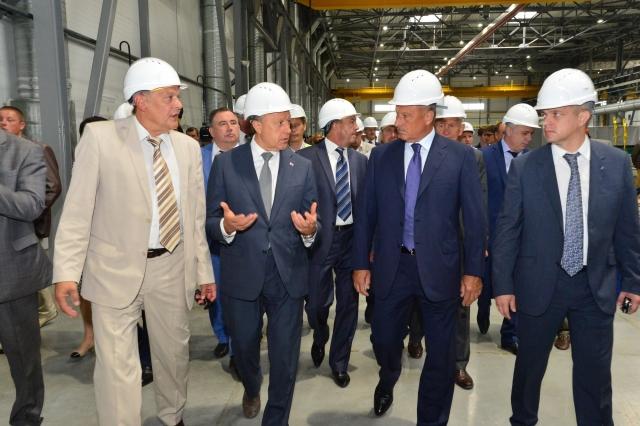 Валерий Радаев на Энгельсском локомотивном заводе. 2015