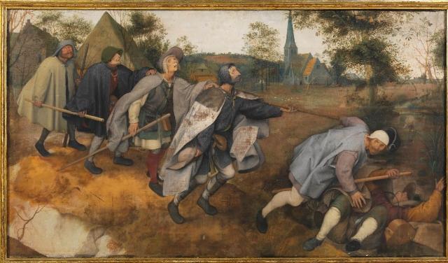 Питер Брейгель Старший. Притча о слепых. 1568