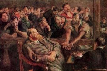 Николай Верхотуров. Расчет (Перед стачкой). 1910