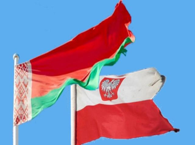 Флаги белоруссии и Польши