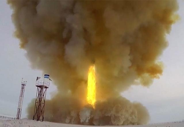 Пуск ракеты комплекса «Авангард» из позиционного района Домбаровский