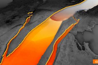 Разлив дизельного топлива после аварии на ТЭЦ в Норильске