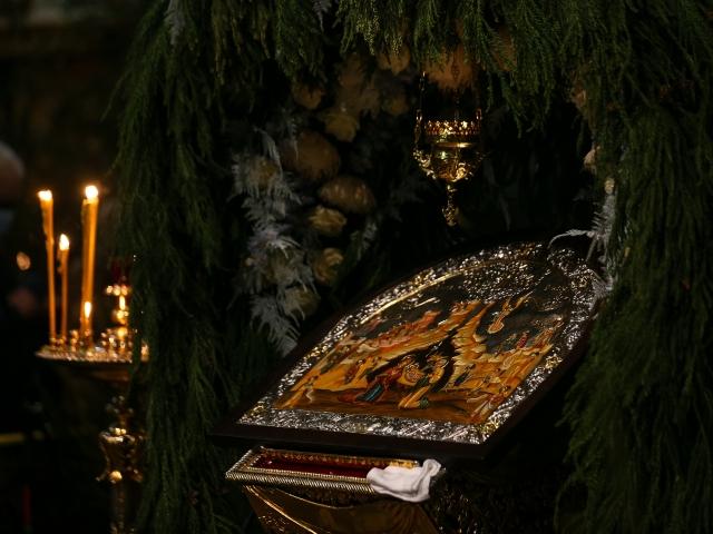 Во время Рождественского богослужения