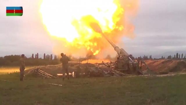 Азербайджанская артиллерия. Нагорный Карабах