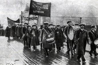 Поход английских безработных в Лондон. 1923
