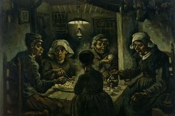 Винсент ван Гог. Едоки картофеля. 1855