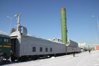 Военный железнодорожный ракетный комплекс 15П961 «Молодец» с межконтинентальной баллистической ракетой. (сс) Andrey Filippov 安德烈