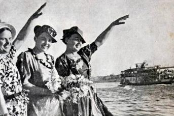 Вера Ломако, Марина Раскова, Полина Осипенко в Севастополе