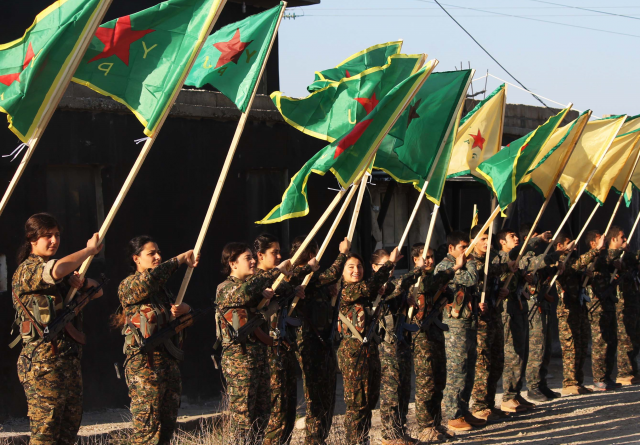 Бойцы Отряда народной самообороны Курдистана