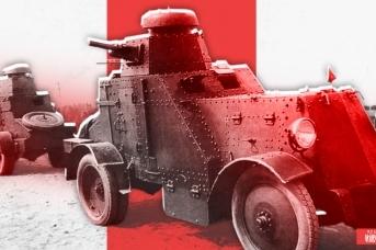 Советский средний бронеавтомобиль БА-27 на учениях