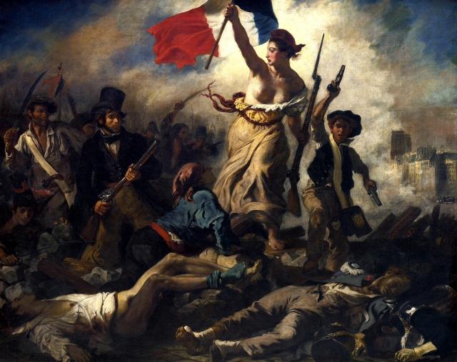 Эжен Делакруа. Свобода, ведущая народ. 1830