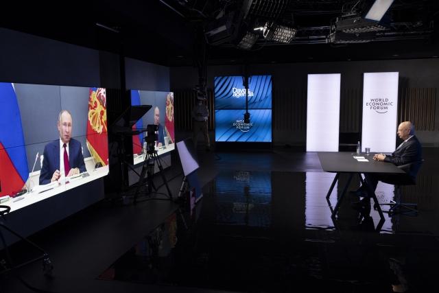 Во время сессии онлайн-форума «Давосская повестка дня 2021», организованного Всемирным экономическим форумом