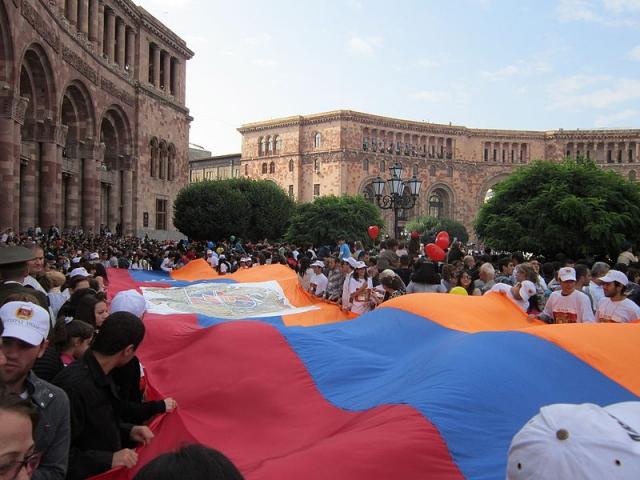 Празднование дня независимости Армении. Ереван