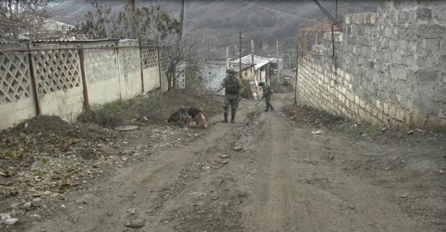 Российские сапёры разминируют территорию. Нагорный Карабах mil.ru