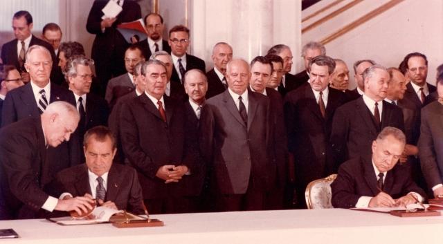 Ричард Никсон во время визита в СССР. 1972