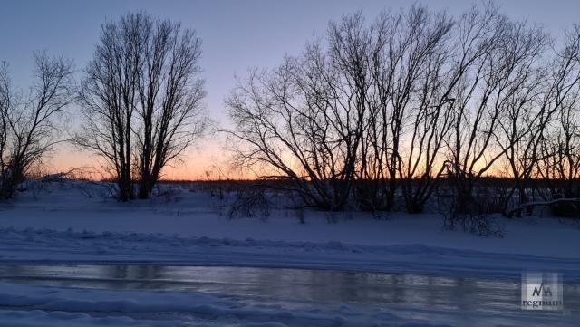 Северная Двина зимой
