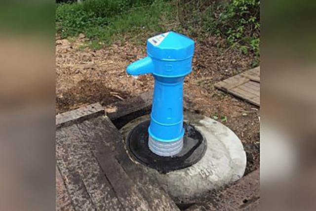 Автоматическая водоразборная колонка в Майской Горке