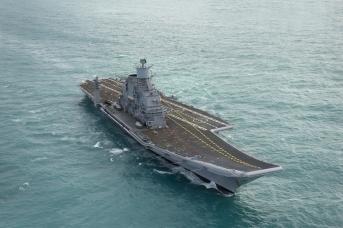 Флагман ВМФ Индии авианосец «Викрамадитья» , бывший «Адмирал Горшков», прошедший на «Севмаше» глубокую модернизацию — практически построенный заново