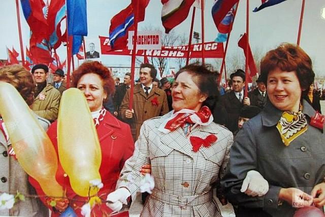 Первомайская демонстрация в Тольятти. 1971