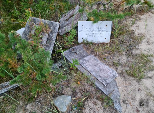 Надгробия с могил заключенных концлагеря на Мудьюге