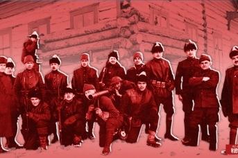 Американские интервенты на Пинеге, ныне Архангельская область. Фото 1918 года
