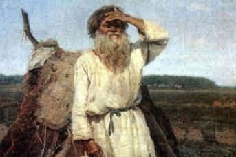 Василий Суриков. Старик-огородник (фрагмент). 1882