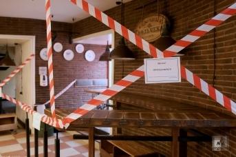 Закрытое в период режима ограничений кафе в Санкт-Петребурге
