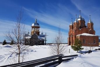 Никольская и Покровская церкви на Шотовой горе, Пинежский район Архангельской области