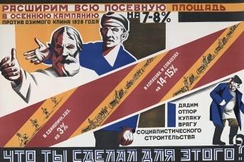 «Расширим всю посевную площадь!» Советский плакат. 1929