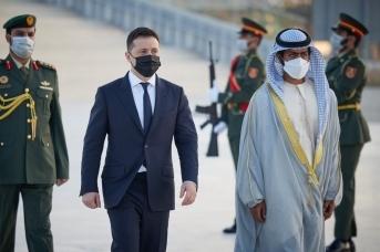 Официальный визит Владимира Зеленского в ОАЭ